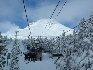 Government Camp lodge photo - Mt Hood from the lift