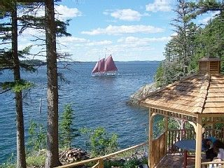 Campobello Island cottage rental - Screened in Gazebo w/ocean view