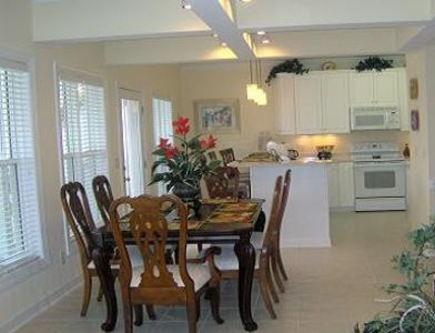 Ocean Isle Beach villa rental - Kitchen and Dinning Area