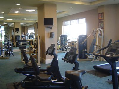 State of the Art Fitness Room with Breathtaking Views of the Gulf of Mexico