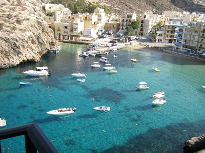 Xlendi Bay, Gozo apartment rental - Bay view from terrace