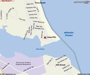 Saco house photo - Map where house is Beach at end of Riverside Ave.