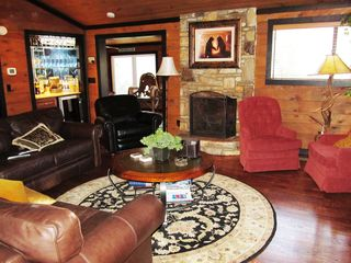 Hendersonville estate photo - CLOUD 9- Family Room with Fireplace and Bar!