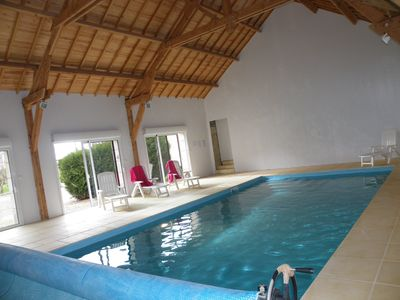 Authentic house - calm, calm assured along the HEATED POOL covered