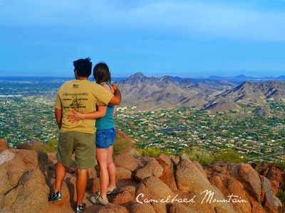 Take an exhilarating hike to the top of Camelback Mtn. for the scenic views