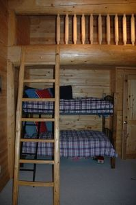 Boy's room with secret loft