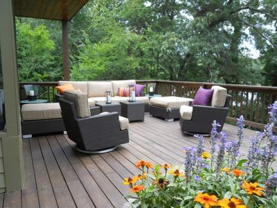 Enjoy the Morning or Evening Cocktails on This Beautifully Appointed Deck