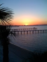 Pensacola Beach house photo - sunset from back porch