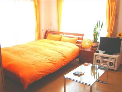 Bedroom with audio system in 1BR (type B)