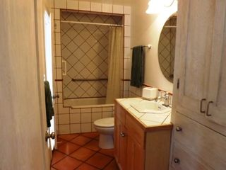 La Jolla bungalow photo - Bathroom with shower and bathtub.