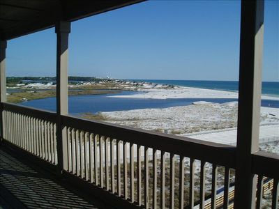 A beautiful view of our rare Coastal Dune Lake and the beach.