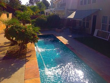 Murrieta house rental - Outdoor pool with cascade waterfalls