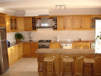 The modern fully equipped kitchen.