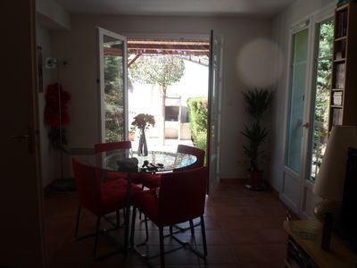 Aigues-Mortes villa rental - Dining/Living Area