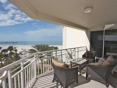 Private Patio with Seating for 4-6 Overlooking the Amazing Clearwater Beach