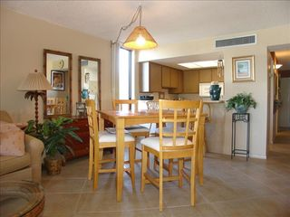 Indian Rocks Beach condo photo - The dining area, bar and fully equipped kitchen