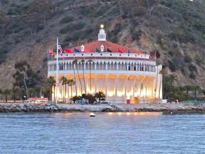 The famous Avalon Casino at the entrance to Avalon Harbor, Catalina