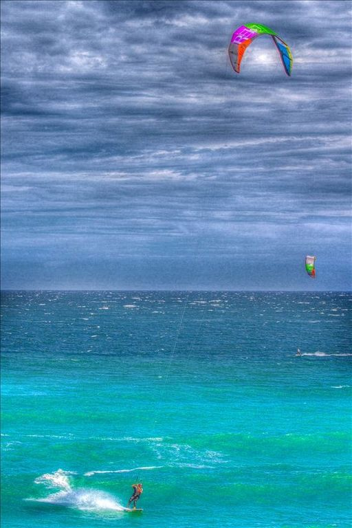 Watching kiteboarders is almost as much fun as kiteboarding.