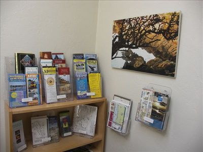 Brochures in the game room