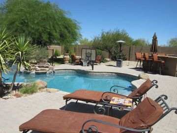 Scottsdale North house rental - Resort style private heated pool. Saving a chaise lounge for you.