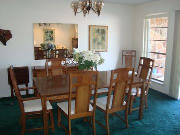 Dining room with lake view