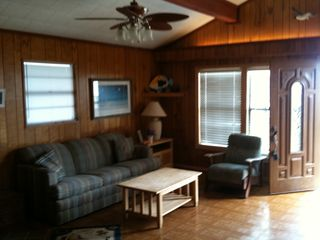 Surfside Beach cottage photo - Large living area to give everyone some space.