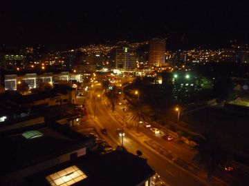 Night City View from Penthouse Balcony!