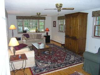 Eastham house photo - Large Family Room with Cable TV & DVD