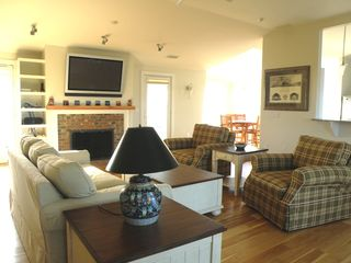 Truro house photo - Top floor living room - Perfect for gathering with family and friends.