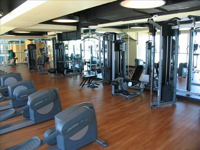 High End Fitness Center With Gulf View