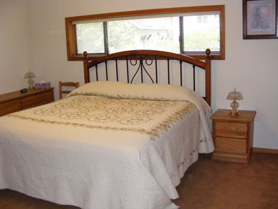 Brinnon house rental - Large main floor bedroom has a king-size bed.