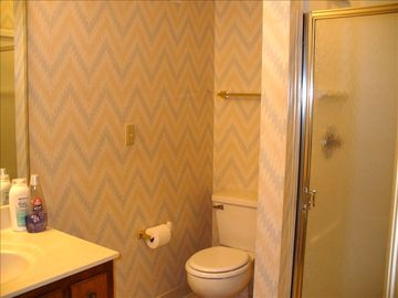 Your second bathroom w/ walk-in shower and full vanity!