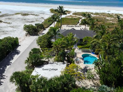 Main house, Guest Cottage, Pool & Private Beach