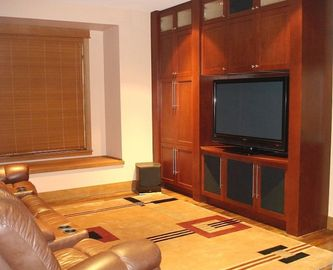 The Media Room - Featuring a plasma TV and a surround sound stereo system