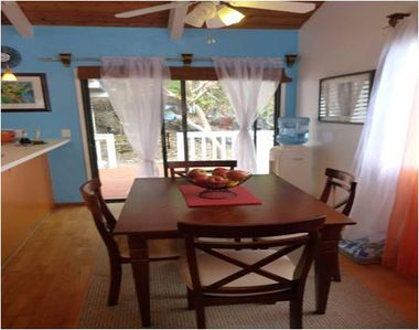 Dining room table, or eat on the lanai and watch the ocian