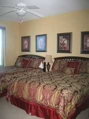Gulf Shores condo photo - 3rd Bedroom with queen beds, TV, and private bath.