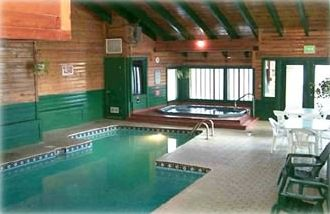 Indoor pool, hot tub and sauna steps from your door