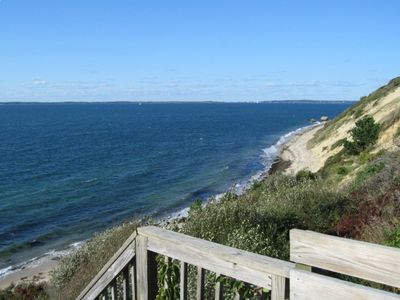 West Tisbury house rental - Our private Association Beach - Stairs to Private Upper Beach entrance