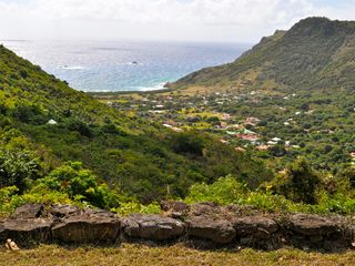 St Barthelemy villa photo - The view towards Grand Fond