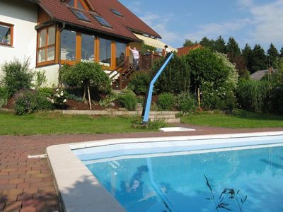 Large country house with winter garden and pool in a beautiful location
