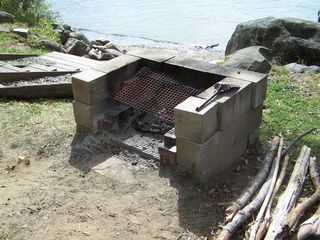 Embden house photo - Firepit at Waters Edge for your Night time enjoyment and S'mores!