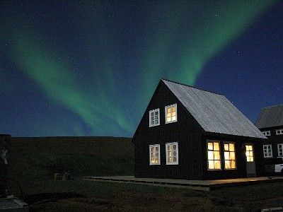 Northwest Iceland cottage rental - The Cottage in dancing nortern lights