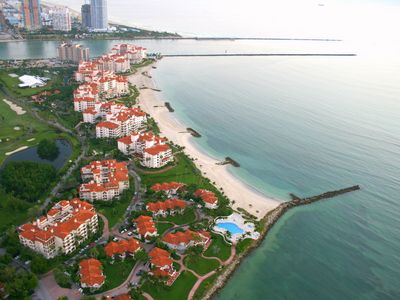 aerial view of Fisher Island from the south