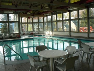 indoor spa/pool at Crystal Mt.