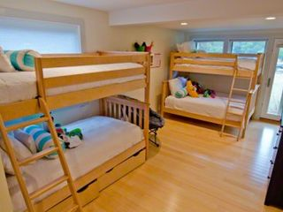 Katama house photo - Bedroom #4 - Suite With Two Full+Twin Bunk Beds, Door To Deck, Jack & Jill Bathroom Shared With Bedroom #2. First Floor