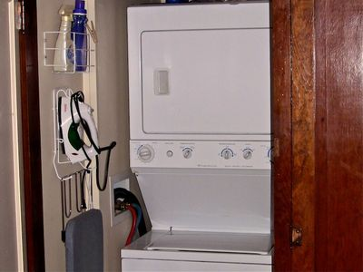 Full Sized Washer & Dryer, Iron & Board