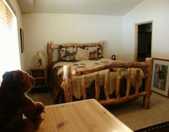 Master Bedroom with attached Dual Sink Bathroom. CA King Size Bed...