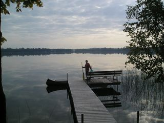 Grand Rapids cabin photo - A true Northern JEM! Early morning canoe launch.