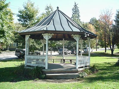 Gazebo across the street near library and art center