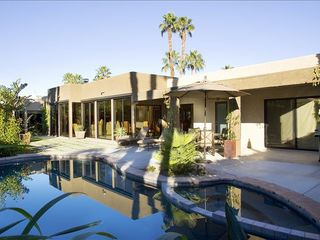 Rancho Mirage villa photo - private rear garden and pool/spa view with Brown J